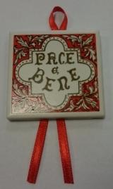 Rood tegeltje Pace e Bene